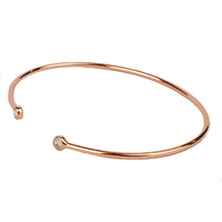 ROSE GOLD CZ OPEN BANGLE