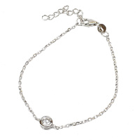 STERLING SILVER SINGLE CZ BRACELET