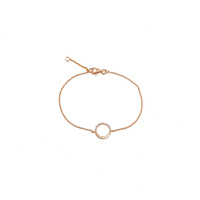 ROSE GOLD HALF CZ CIRCLE BRACELET