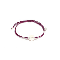 CURE BRAIN CANCER FOUNDATION SILK CORD HOPE BRACELET