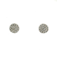 STERLING SILVER CZ CIRCLE STUDS