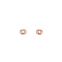 ROSE GOLD TWO CIRCLE STUDS