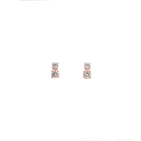 ROSE GOLD DOUBLE CZ DROP STUDS