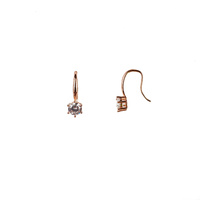 ROSE GOLD CZ ON HOOK EARRINGS