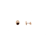 ROSE GOLD OVAL STUDS