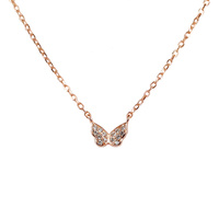 ROSE GOLD CZ BUTTERFLY PENDANT