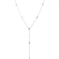 STERLING SILVER CZ DROP NECKLACE