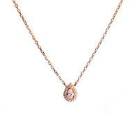 ROSE GOLD CZ TEARDROP CZ PENDANT