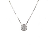 STERLING SILVER PAVE CZ CIRCLE PENDANT