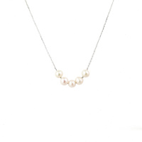 STERLING SILVER 5 X FW PEARL NECKLACE