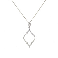 STERLING SILVER AND CZ DIAMOND OUTLINE PENDANT