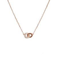 ROSE GOLD INTERLOCK CIRCLE NECKLACE