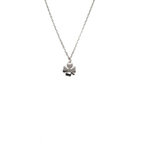 STERLING SILVER FOUR LEAF CLOVER NECKLACE