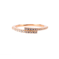 ROSE GOLD CZ OVERLAP RING