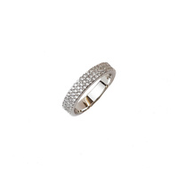 STERLING SILVER WIDE CZ PAVE BAND RING