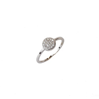 STERLING SILVER CZ PAVE CIRCLE RING