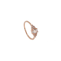 ROSE GOLD OVAL CUBIC ZIRCONIA RING