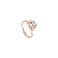 ROSE GOLD LARGE CZ HALO RING