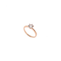ROSE GOLD SOLITAIRE CUBIC ZIRCONIA RING